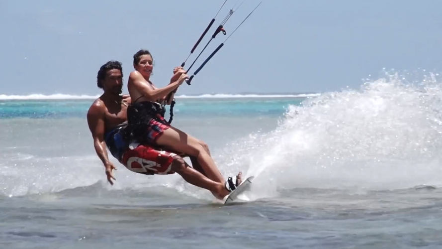 Kite surf en tandem