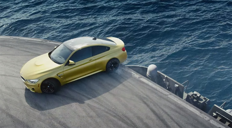 BMW-M4-aircraft-carrier