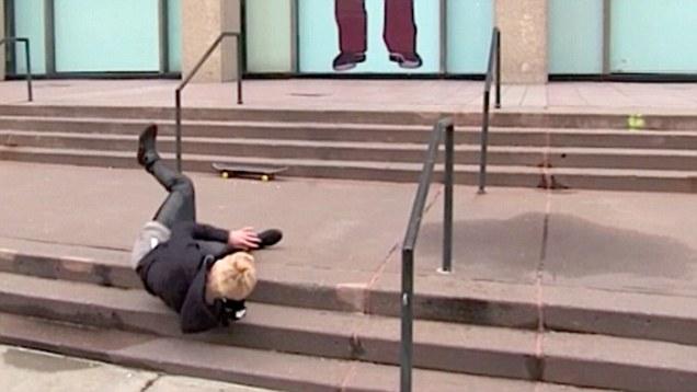 Justin Bieber en skate fail chute