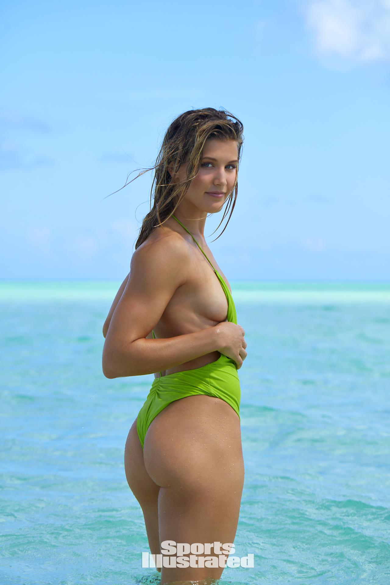 geenie in a string bikini