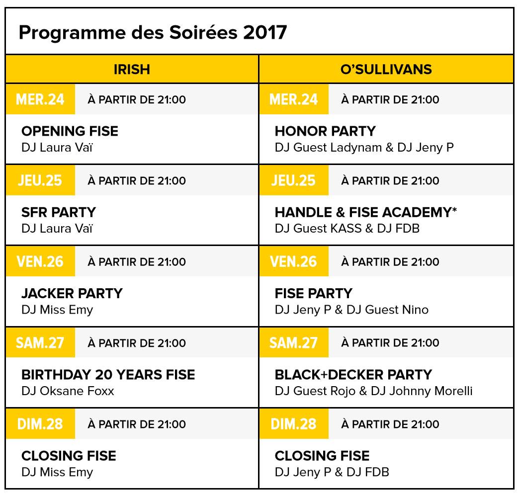 fise world montpellier 2017 programme soirées