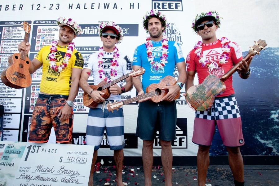 Michel Bourez vainqueur du Reef Hawaiian Pro!