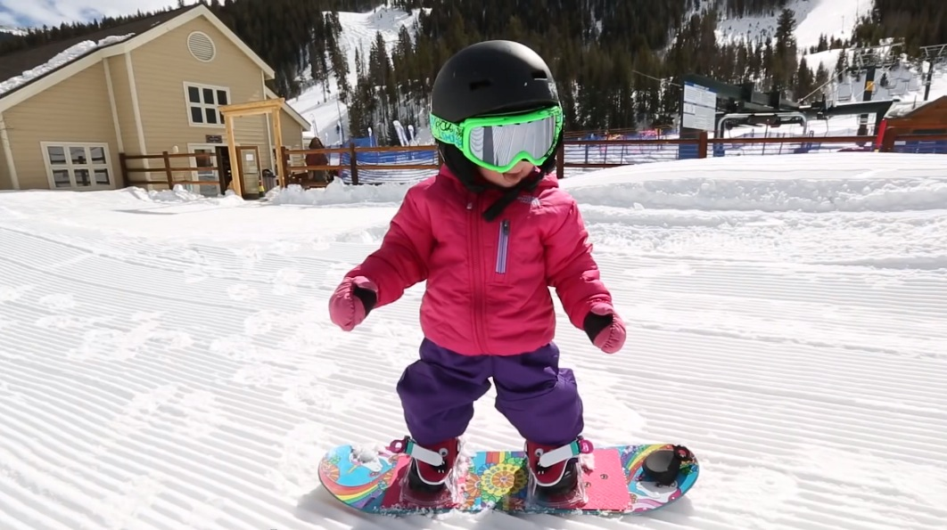 Aspen 17 months old snowboard
