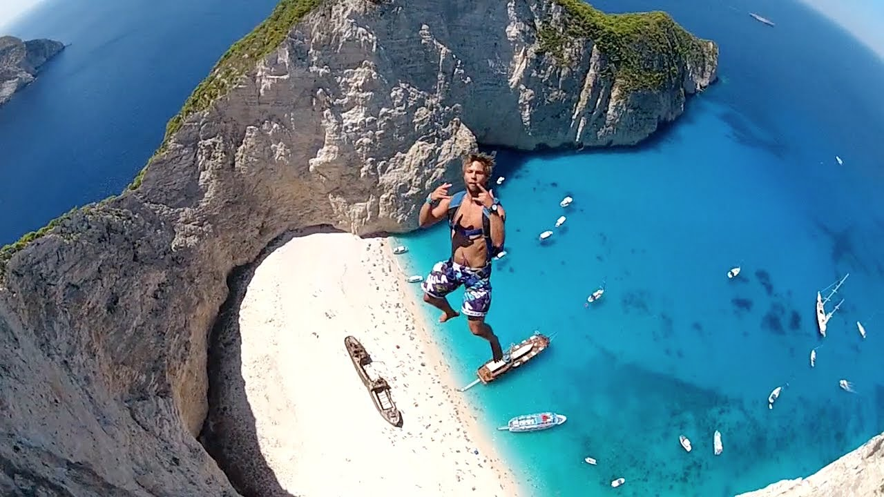 navagio beach base jump greece