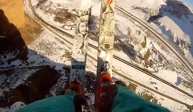 Clayton Butler ski base front flip