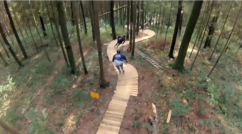 Forest Rollerblading