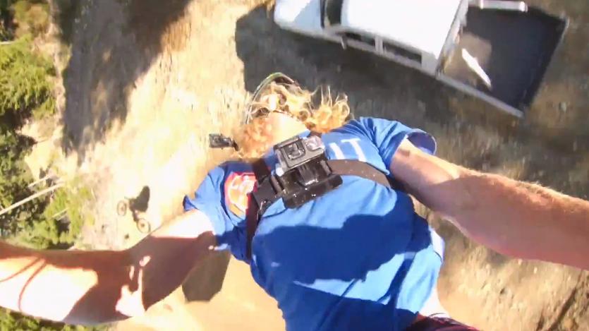 Kelly McGarry backflip over truck