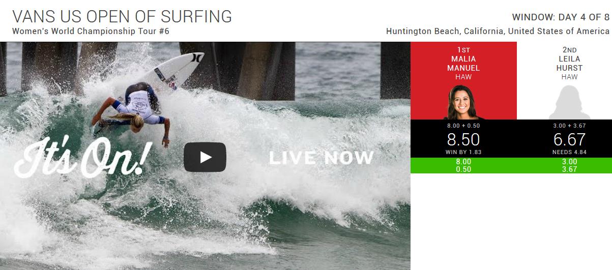 vans-us-open-of-surfing-live alana blanchard laura enever pauline ado