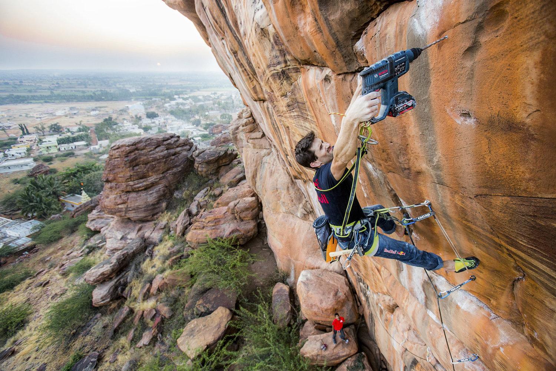 Kilian Fischhuber - climbing in badami