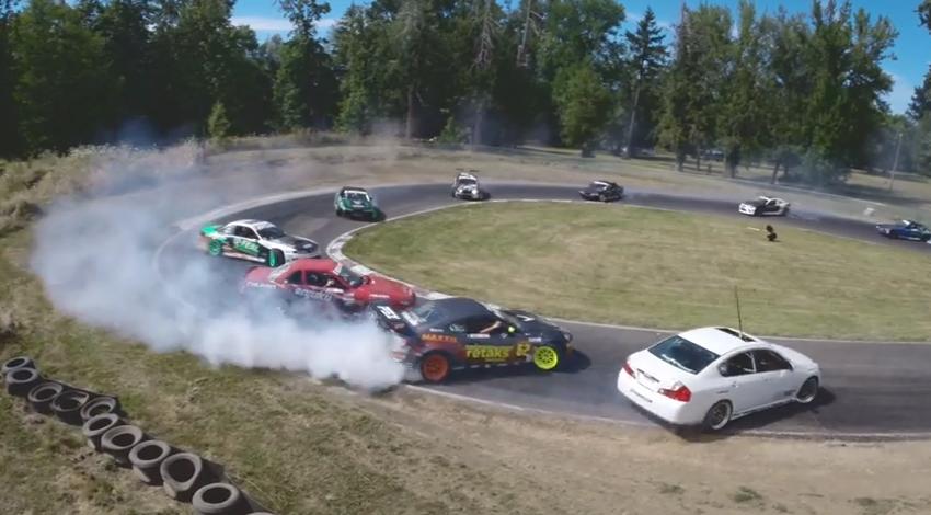 GoPro: Twelve Car Tandem Drift