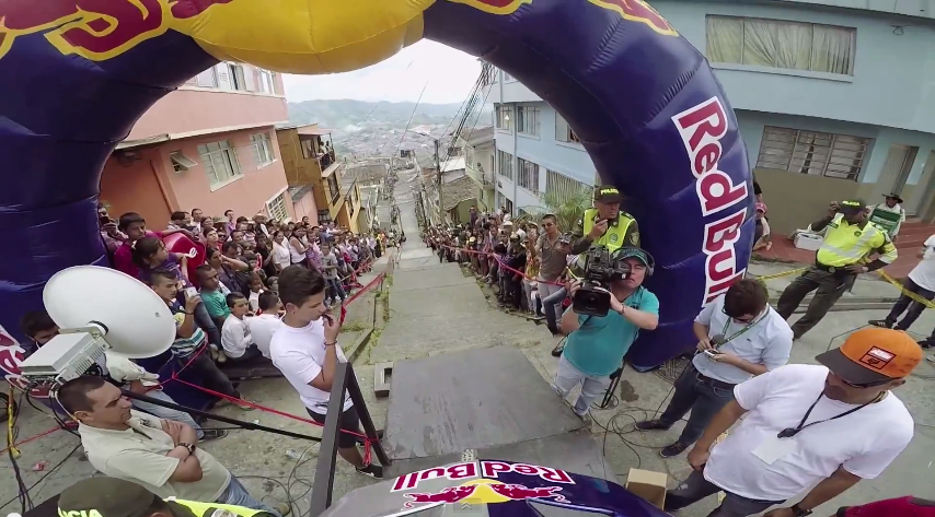 Urban Downhill Mountain Bike POV in Colombia