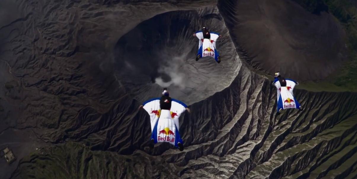 Wingsuit avec la team Red Bull