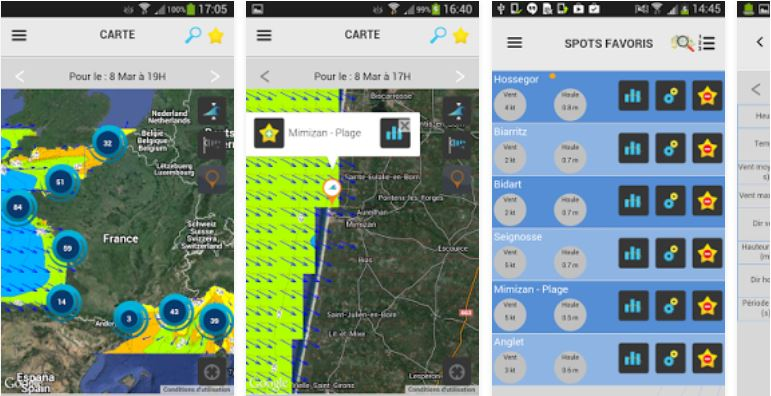 Surf Factor application Météo France prévisions houle spot surf
