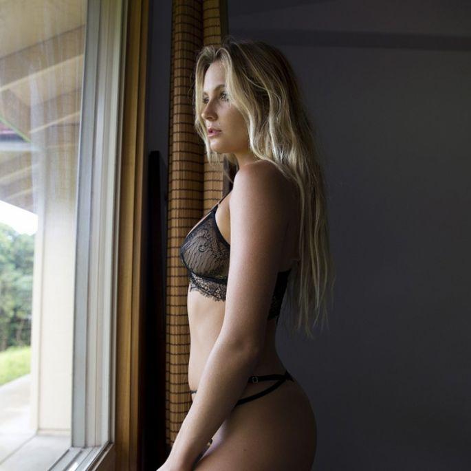 Alana Blanchard sexy Bikini string hot nude thong