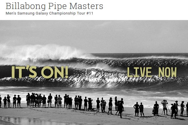Billabong Pipe Masters 2015 en live