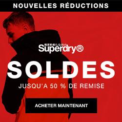 SuperDry nouvelle saison surf t-shirt lunettes soldes hiver -50%
