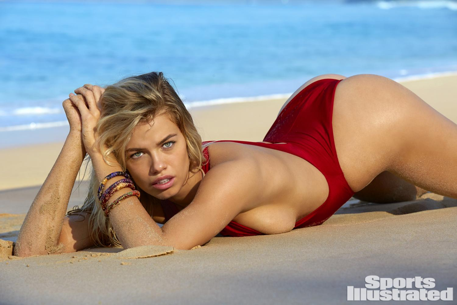 hailey clauson si swimsuit 2017 bikini string thong sexy hot nude naked