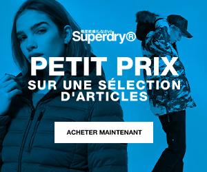 SuperDry nouvelle saison surf t-shirt lunettes soldes hiver petits prix