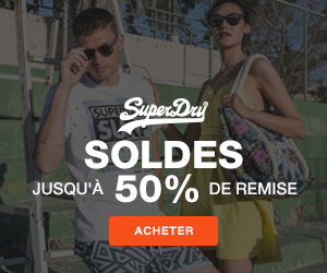 SuperDry solde 50% surf t-shirt lunettes