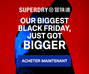 SuperDry soldes -50% black friday surf t-shirt lunettes soldes été petits prix