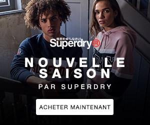 SuperDry nouvelle saison surf t-shirt lunettes