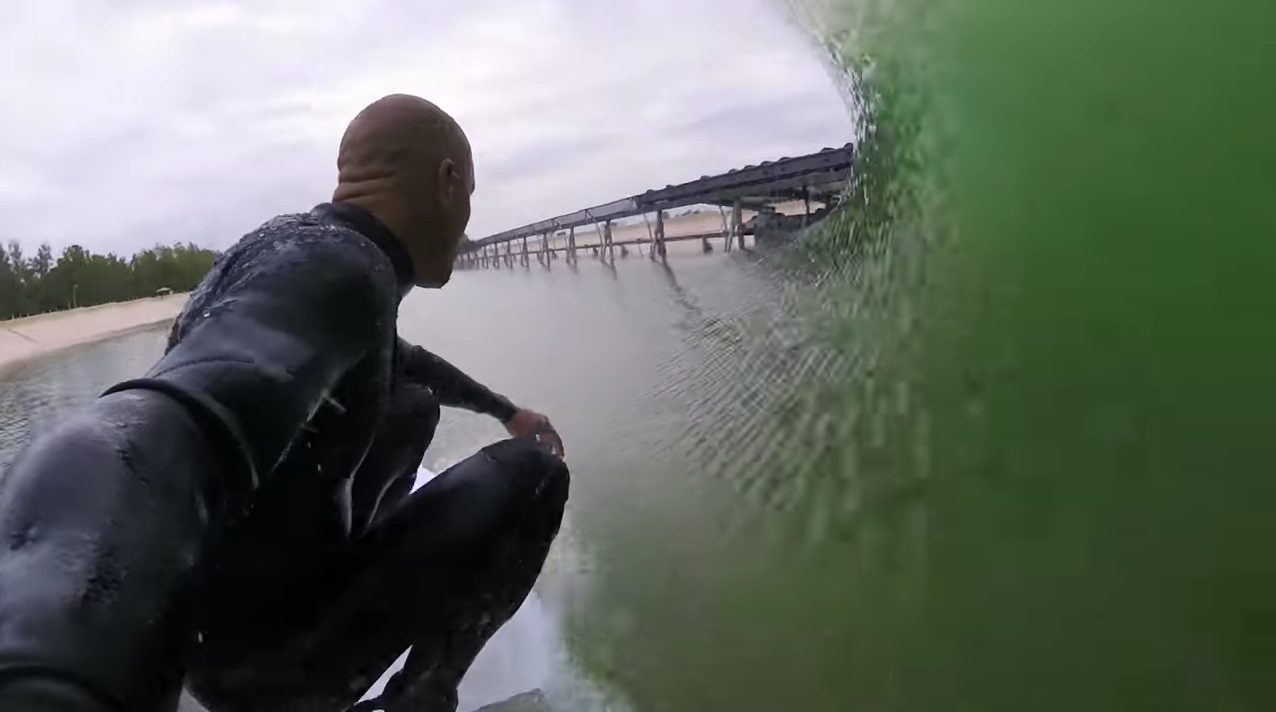 Kelly Slater surf tube barrel wave pool gopro
