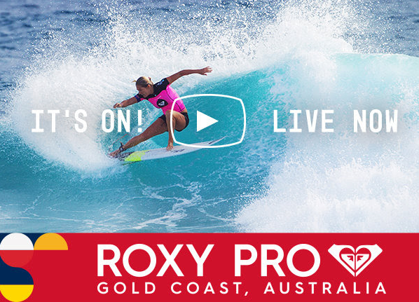 Roxy Pro Gold Coast Its ON live 2017 johanne defay