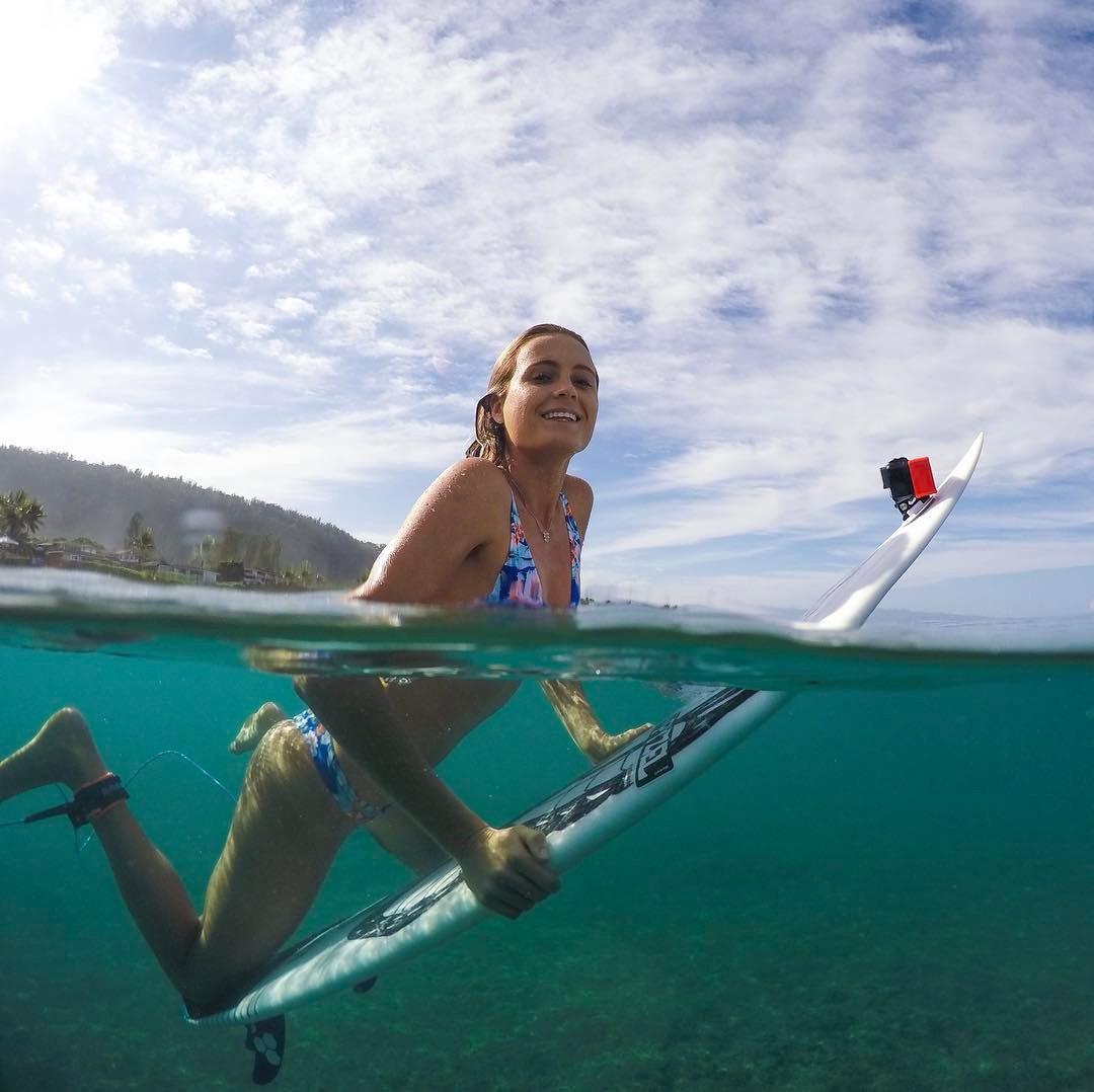 Alana Blanchard sexy thong surf hot string bikini nude