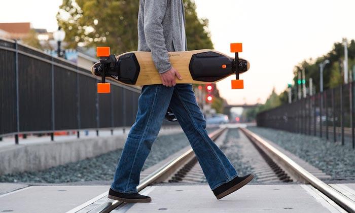porter son skateboard électrque quand on a plus de batterie