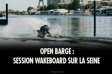 Session Wakeboard sur la Seine pour Dominik Hernler