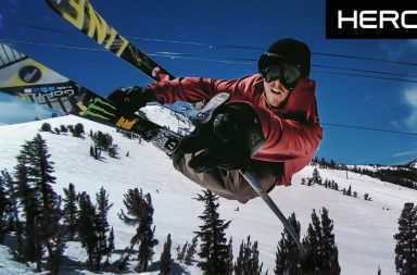 Tom Wallisch skie à Mammoth Mountain en gopro hero6