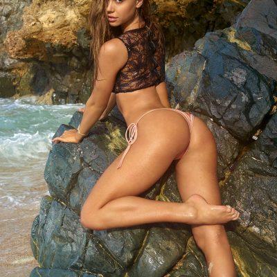 Alexis Ren SI Swimsuit 2018 hot nude sexy thong string bikini nue