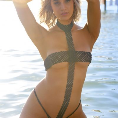 Allie Ayers SI Swimsuit 2018 hot nude sexy thong string bikini nue