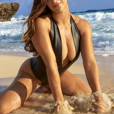 Aly Raisman SI Swimsuit 2018 hot nude sexy thong string bikini nue
