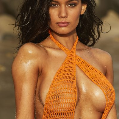 Anne De Paula SI Swimsuit 2018 hot nude sexy thong string bikini nue
