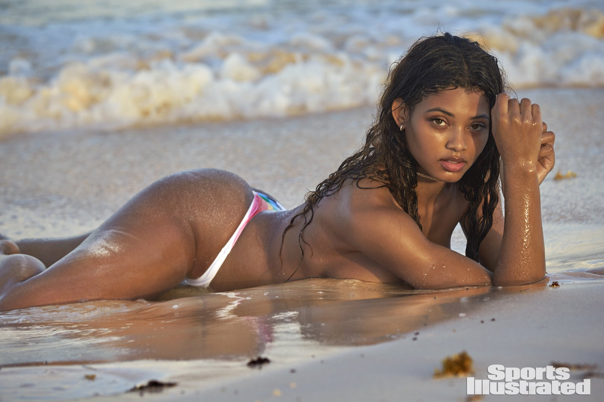 Danielle Herrington SI Swimsuit 2018 hot nude sexy thong string bikini nue