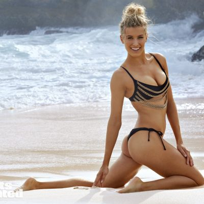 Genie Bouchard SI Swimsuit 2018 hot nude sexy thong string bikini nue