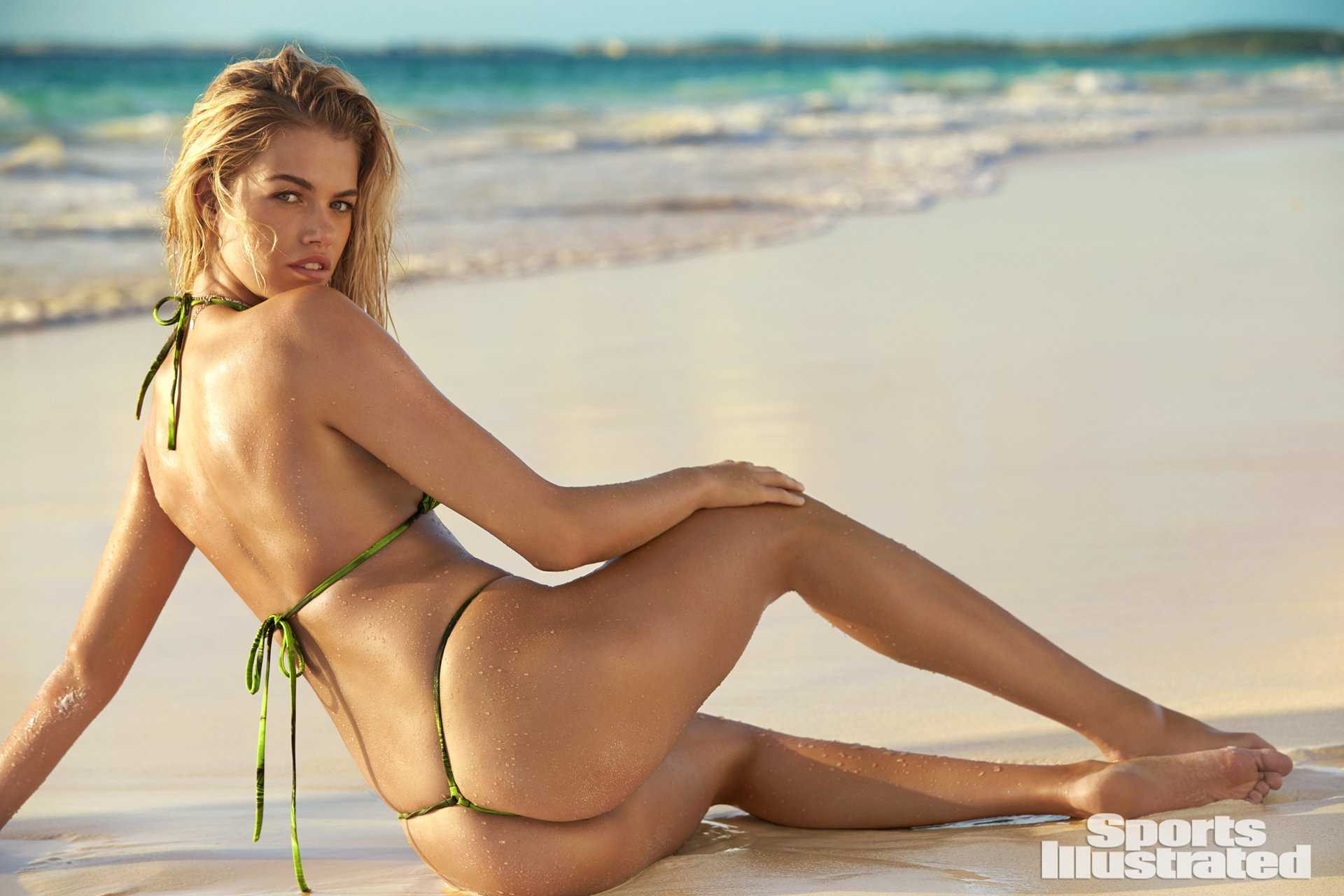 Hailey Clauson SI Swimsuit 2018 hot nude sexy thong string bikini nue
