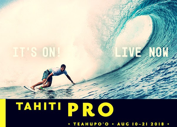 Tahiti Pro Teahupoo 2018 live sur ride and slide