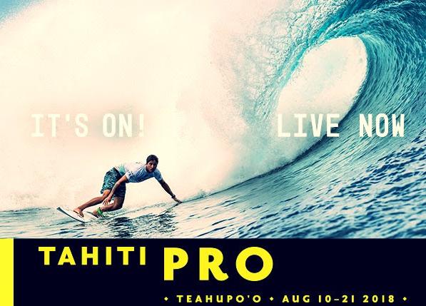 Tahiti Pro Teahupoo 2018 live sur ride and slide