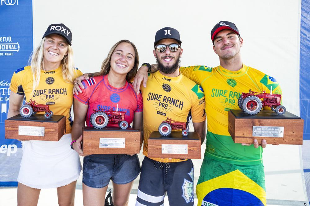 Garbiel Medina Carissa Moore gagnent Surf Ranch Pro 2018
