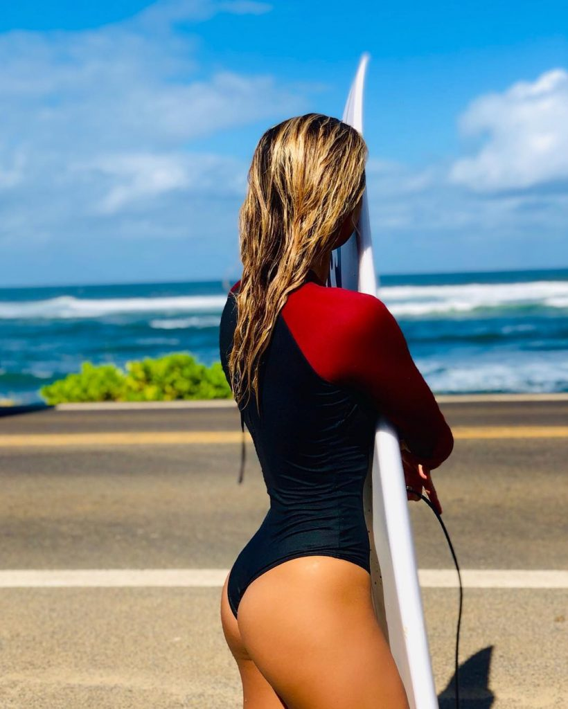alessa quizon nude thong string bikini sexy hot ass surf billabong
