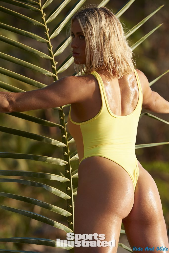 Abby Dahlkemper sports illustrated swimsuit 2019 thong string bikini sexy ass nude nue