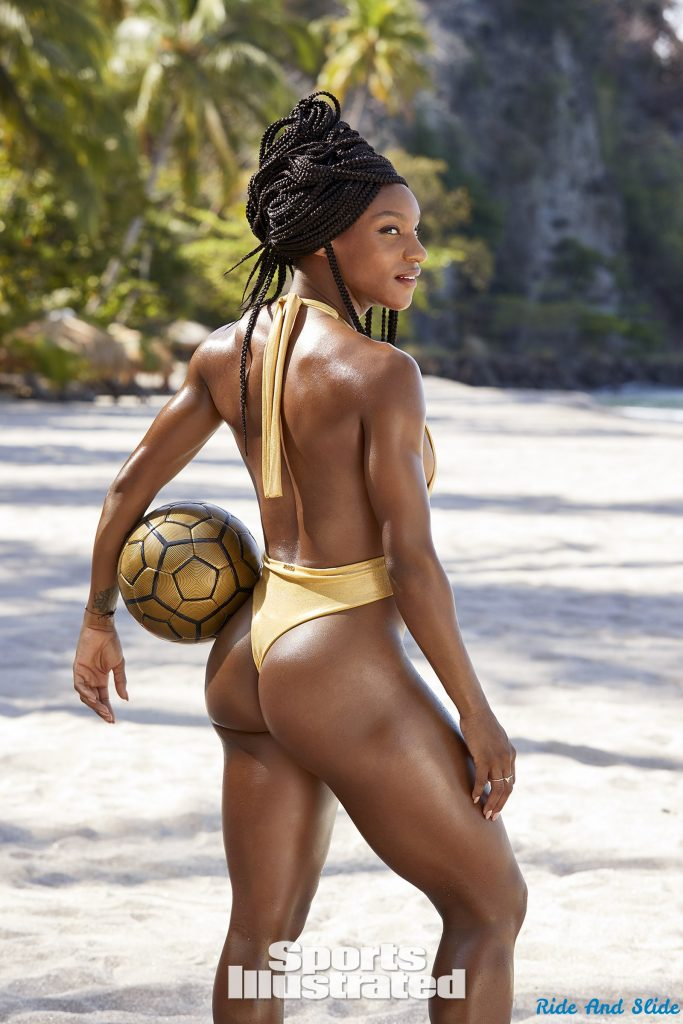 Crystal Dunn sports illustrated swimsuit 2019 thong string bikini sexy ass nude nue