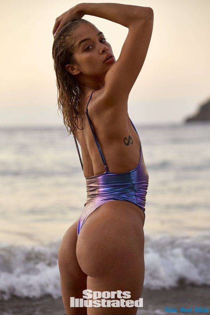 Jasmine Sanders sports illustrated swimsuit 2019 thong string bikini sexy ass nude nue