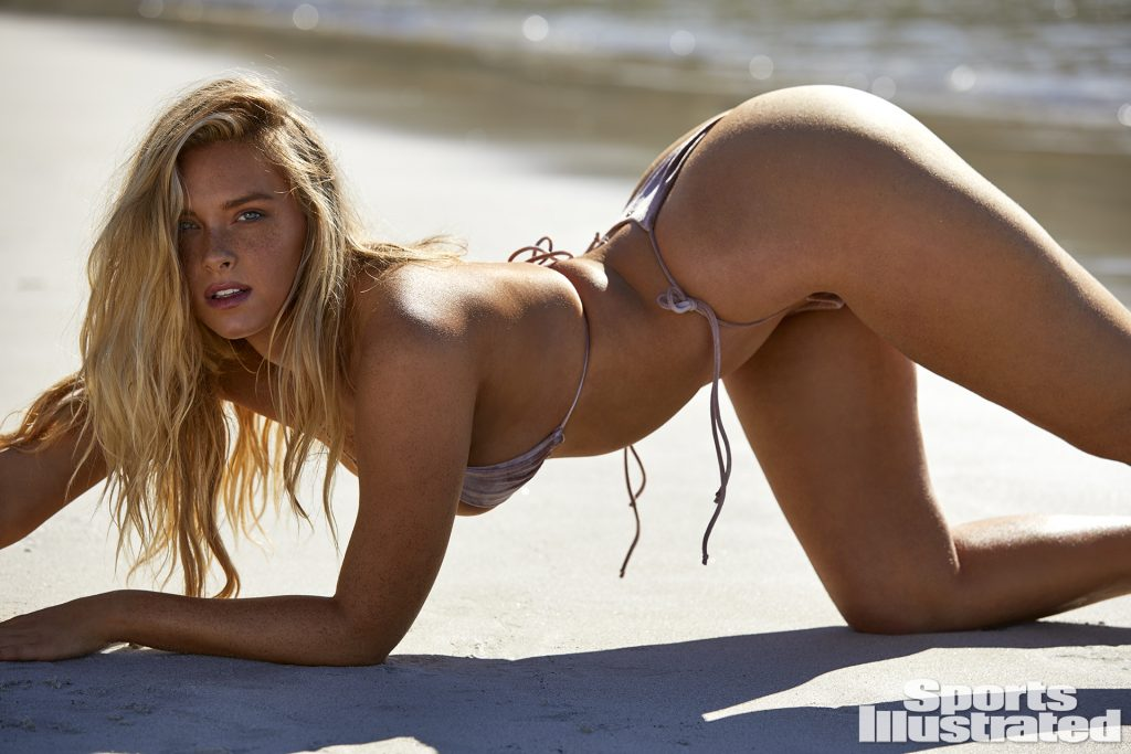 camille kostek sports illustrated swimsuit 2019 thong string bikini sexy ass nude nue