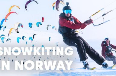snowkitting in norway du snowkite en Norvège Red Bull Ragnarok