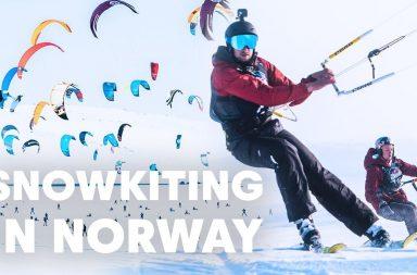 snowkitting in norway du snowkite en Norvège Red Bull Ragnarok