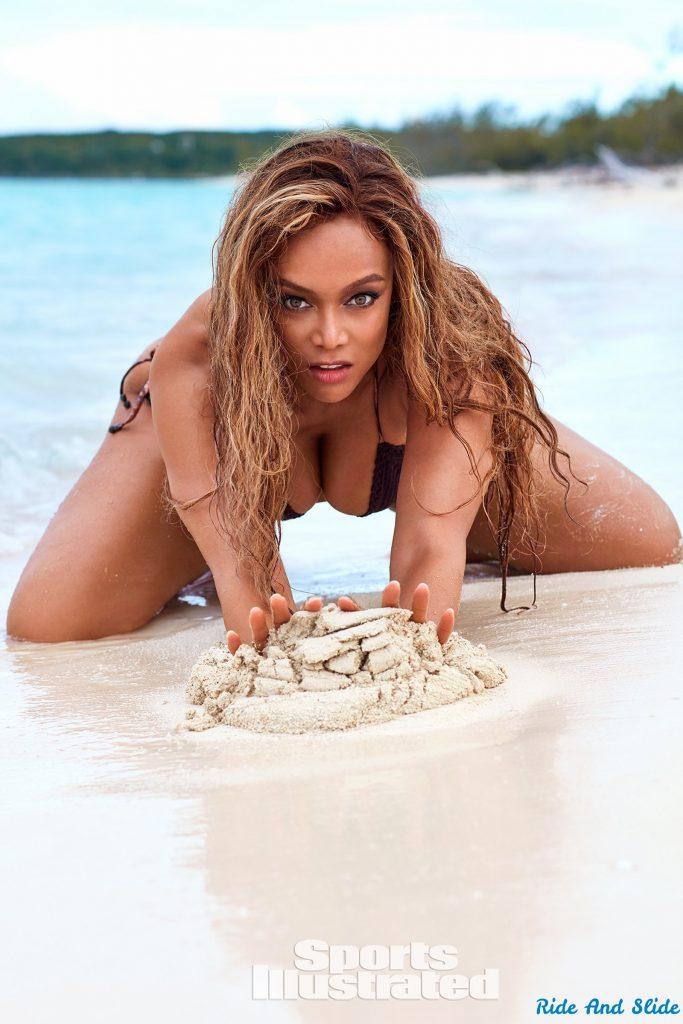 tyra banks sports illustrated swimsuit 2019 thong string bikini sexy ass nude nue