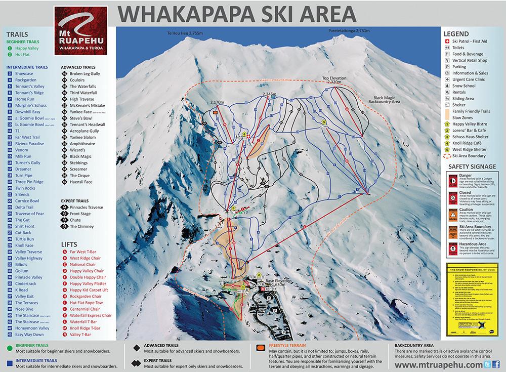 La station de ski de Whakapapa